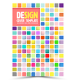 book cover design template flyer layout vector image