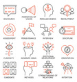 Set of icons related to business management - 24 vector image