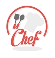 Chef design supplies icon restaurant concept vector image