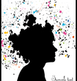 Grunge head silhouette vector image vector image