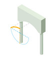arch building icon isometric 3d style vector image