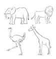 cartoon sketch of animals vector image