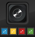 Cd DVD compact disk blue ray icon symbol Set of vector image