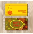Discount card voucher gift certificate coupon vector image