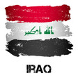 flag of iraq from brush strokes vector image