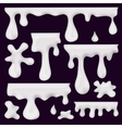 milk blots splashes and smudges vector image