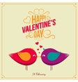 Saint Valentine Day background vector image