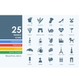 Set of France icons vector image