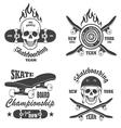 Skateboard emblems vector image