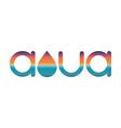 Sunset or sunrise mockup logo aqua or watter vector image