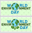 World environment day greeting card flyer World vector image