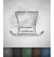 cylinder hat icon Hand drawn vector image