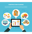 Flat Construction Planning Diagram Concept vector image