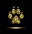 trail dog from a golden sequins vector image vector image