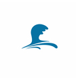 Water wave symbol vector image