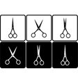 set with scissors vector image