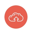 Cloud upload thin line icon vector image vector image