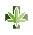 medical marijuana flat icon vector image
