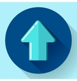 blue Flat Download Upload Icon vector image