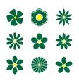 Flower bud set vector image