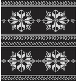 black and white knitted background vector image