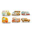 camping bus or camper van vector image