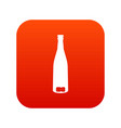 empty wine bottle icon digital red vector image