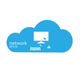 Social network background with cloud media icons vector image