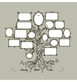 Family tree template with picture frames vector image
