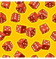 dice seamless background vector image vector image