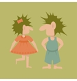 Pair of Trolls flat logo template vector image