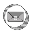 envelope with heart post stamp vector image