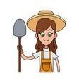 farmer cartoon icon imag vector image