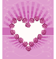 Card With Floral Heart vector image vector image