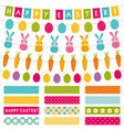 Easter set decoration and washi tapes vector image
