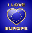 Glossy european heart vector image