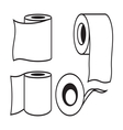 Toilet paper icon9 resize vector image