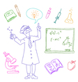 laboratory doodles vector image