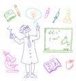 laboratory doodles vector image vector image