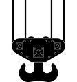 hook of sea port crane vector image vector image