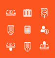 bookkeeping finance icons set vector image