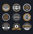 circle vintage and retro badge design vector image