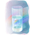 glass rainbow of water vector image
