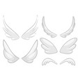 hand drawn angel fairy or bird wings set vector image