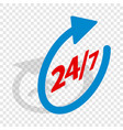 round clock support isometric icon vector image