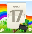 saint patricks day calendar vector image
