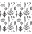 Seamless pattern with hand drawn doodle ornate vector image