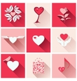 Set icons for romantic events vector image