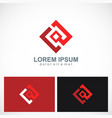 square geometry technology logo vector image