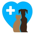 veterinary icon and pet symbol vector image